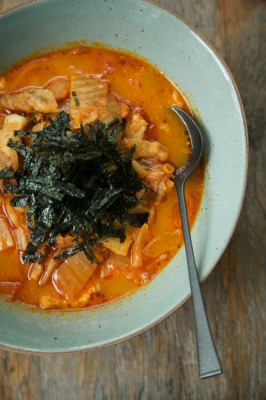 how to make kimchi stew soup